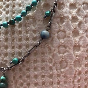 Silpada turquoise & oxides sterling necklace